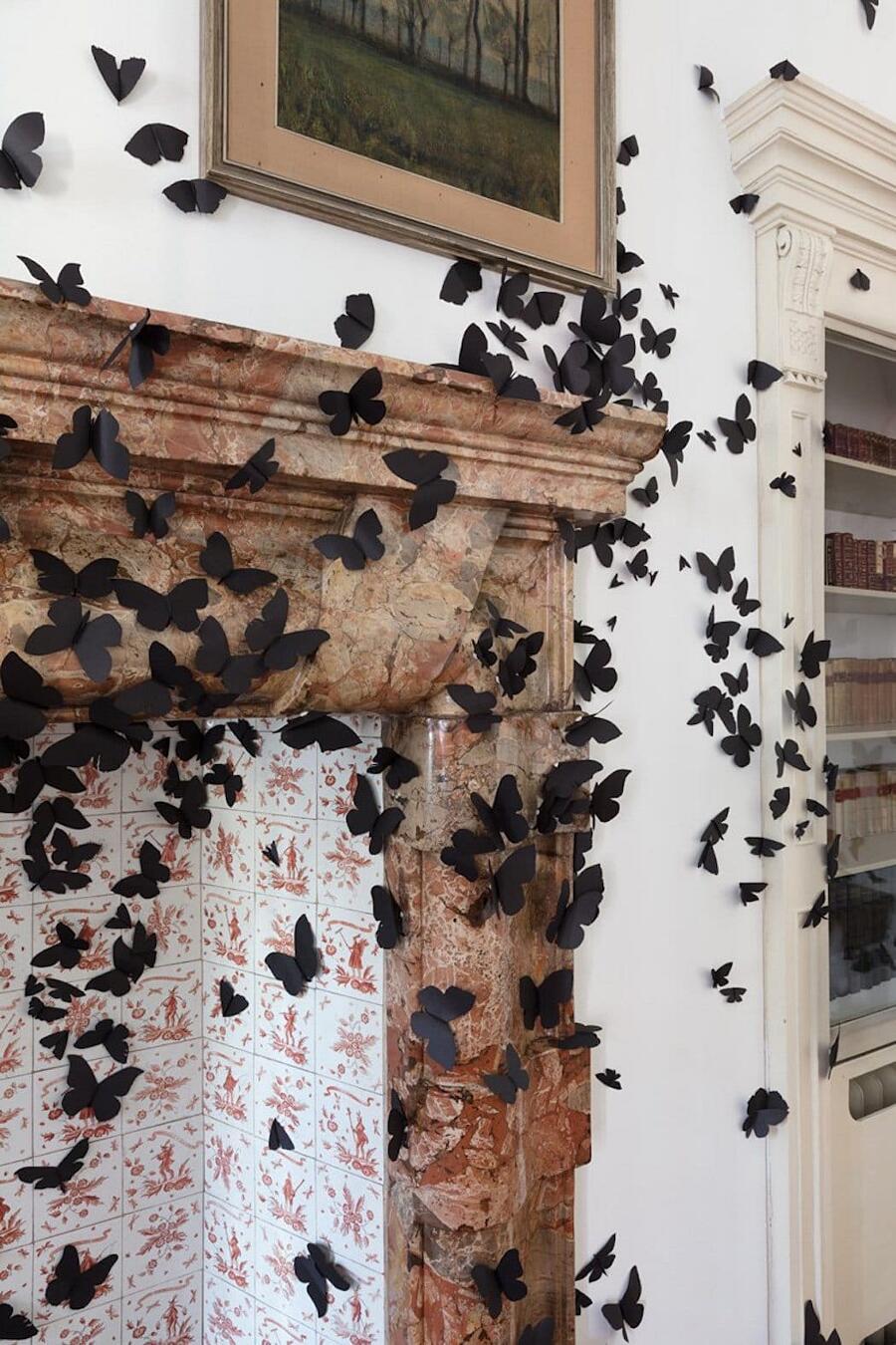 Installazione Farfalle Di Carta Carlos Amorales Fondazione Adolfo Pini
