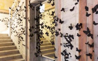 Uno sciame surreale di 15.000 farfalle di carta invade un edificio del 19° secolo