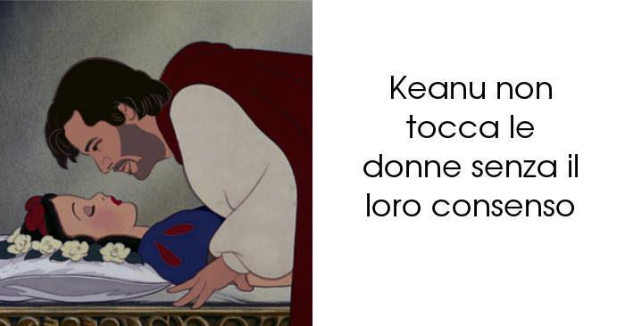 Artista immagina Keanu Reeves nei panni di 9 principi Disney, ecco i risultati
