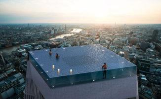 La prima piscina al mondo in cima a un grattacielo offrirà una vista a 360 gradi su Londra