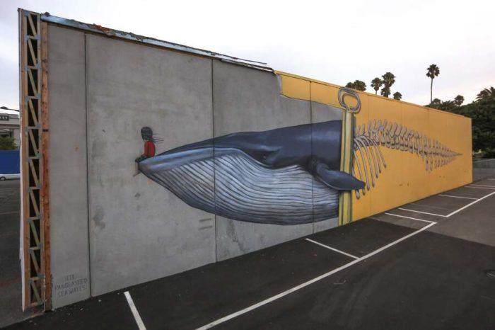 Street artist di tutto il mondo uniscono arte e attivismo ambientale per salvare gli oceani