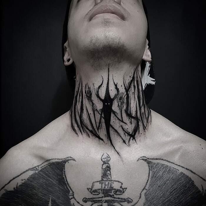 Tatuaggi collo