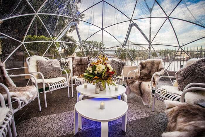 Tenda trasparente, igloo da giardino, serra relax