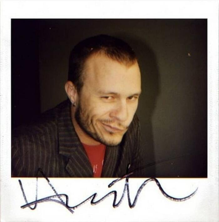 Foto Rare Heath Ledger Polaroid
