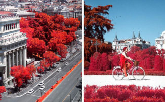 La bellezza di Madrid attraverso la fotografia a infrarossi