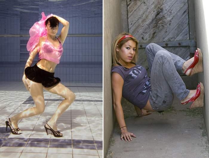Modelle pose ridicole