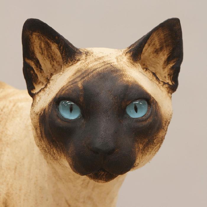 Sculture Realistiche Legno Cani Gatti Gerard Mas