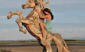 60 straordinarie sculture fatte con legno trovato in spiaggia