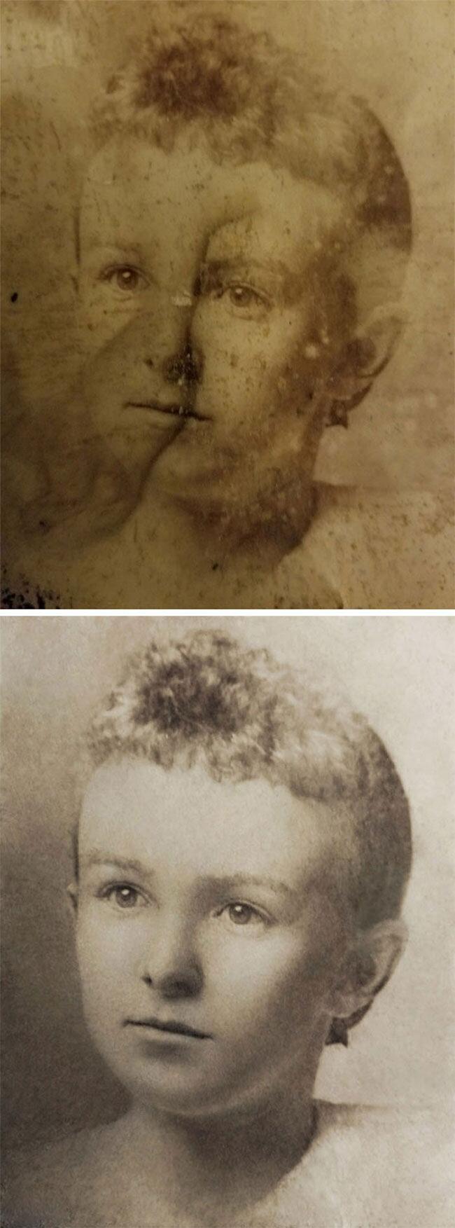 Vecchie Foto Danneggiate Restaurate
