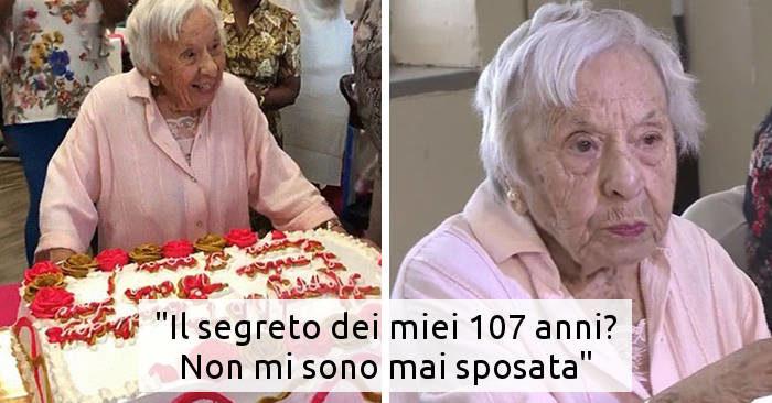 Al suo 107° compleanno le chiedono il segreto della longevità:
