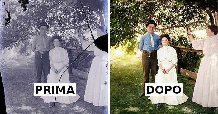 Fotografo restaura foto antiche molto rovinate, ecco i suoi lavori più impressionanti