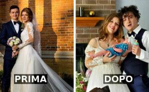 Prima e dopo avere avuto un bambino: genitori mostrano le differenze e sono esilarati