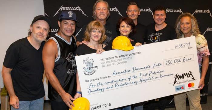 I Metallica donano 250.000 € per costruire il primo ospedale pediatrico oncologico in Romania