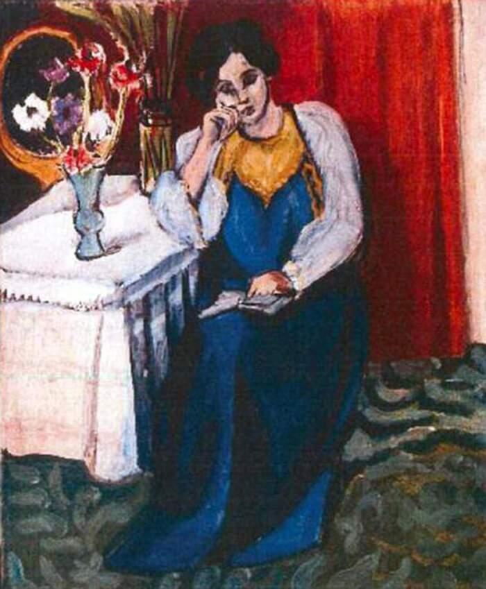Famose opere d'arte rubate e mai ritrovate - Ragazza che legge in bianco e giallo (1919), Henri Matisse, olio su tela