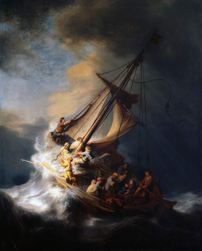 Famose opere d'arte rubate e mai ritrovate - Cristo nella tempesta sul mare di Galilea (1633), Rembrandt van Rijn, olio su tela