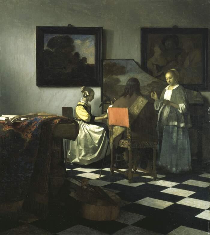 Famose opere d'arte rubate e mai ritrovate - Concerto a Tre (1666-1667), Johannes Vermeer, olio su tela