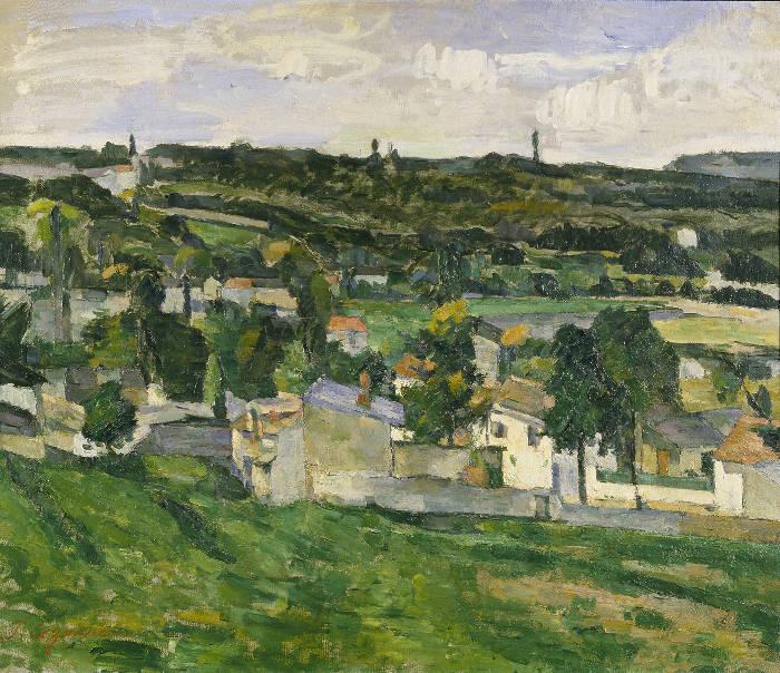Famose opere d'arte rubate e mai ritrovate - Vista di Auvers-sur-Oise (1879-1880), Paul Cézanne, olio su tela