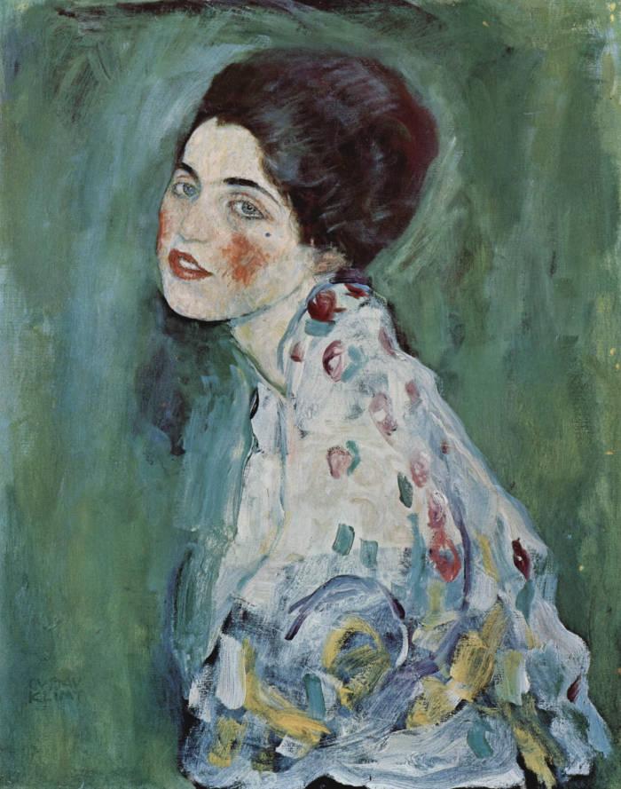 Famose opere d'arte rubate e mai ritrovate - Ritratto di Signora (1916-1917), Gustav Klimt, olio su tela
