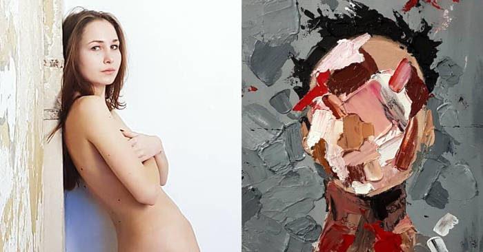 Artista autodidatta dipinge con il seno al posto dei pennelli