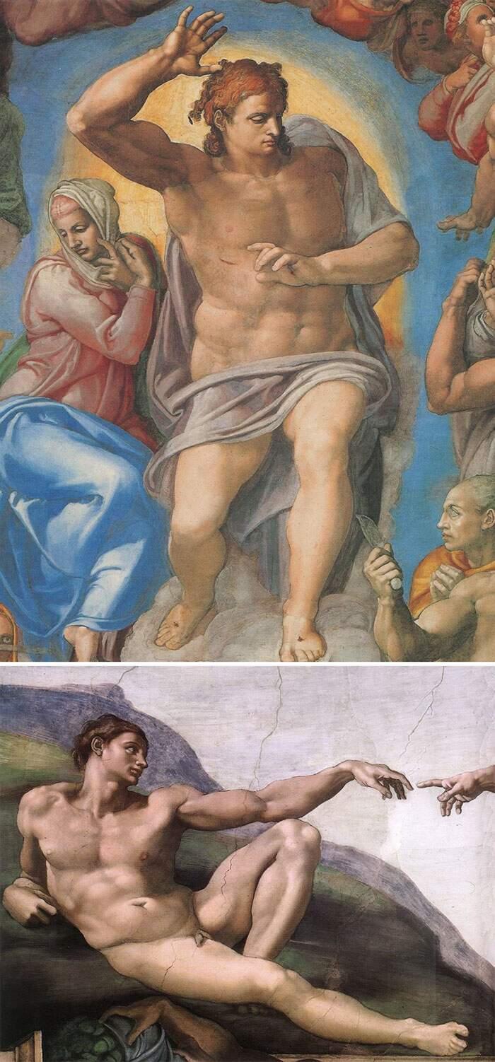 Come riconoscere artisti famosi dai loro quadri, Michelangelo Buonarroti