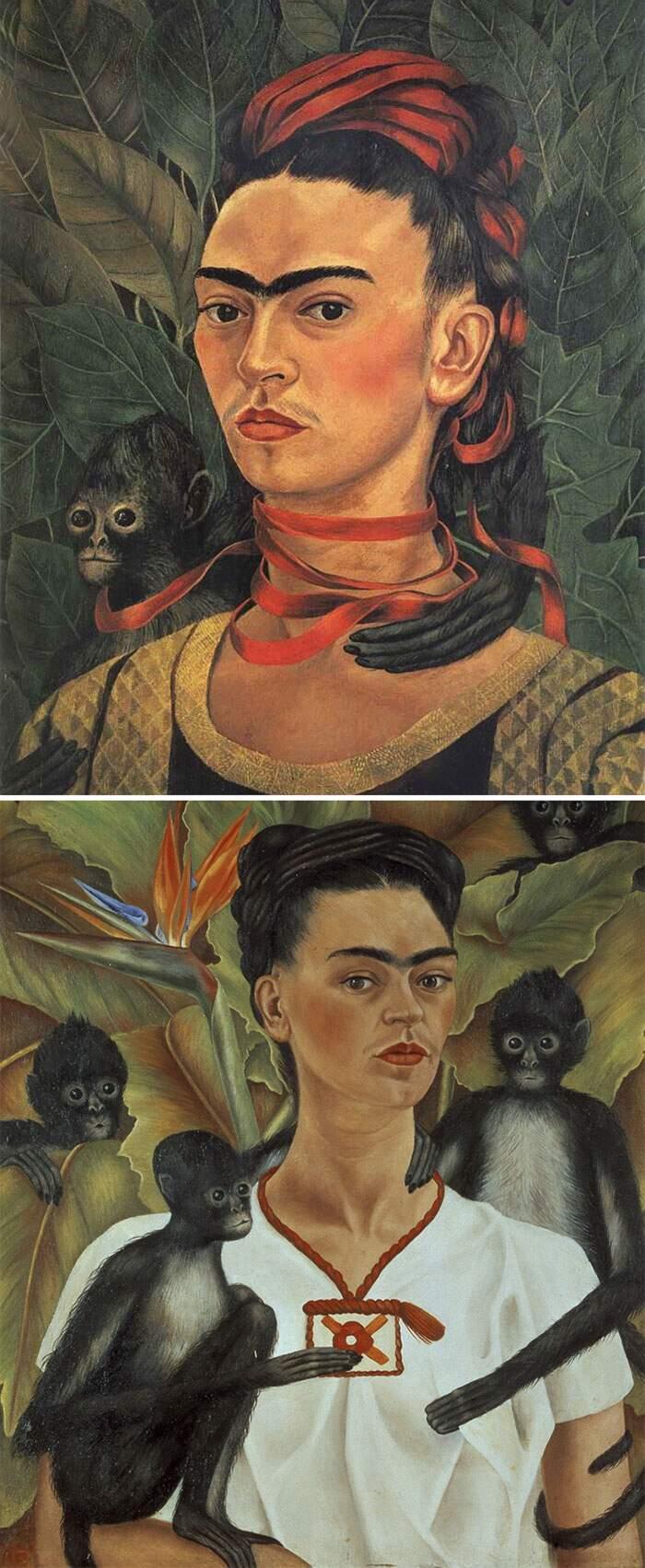 Come riconoscere artisti famosi dai loro quadri, Frida Kahlo