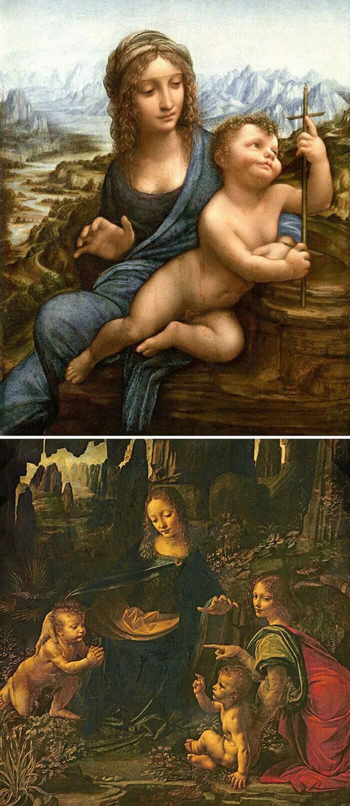 Come riconoscere artisti famosi dai loro quadri, Leonardo da Vinci