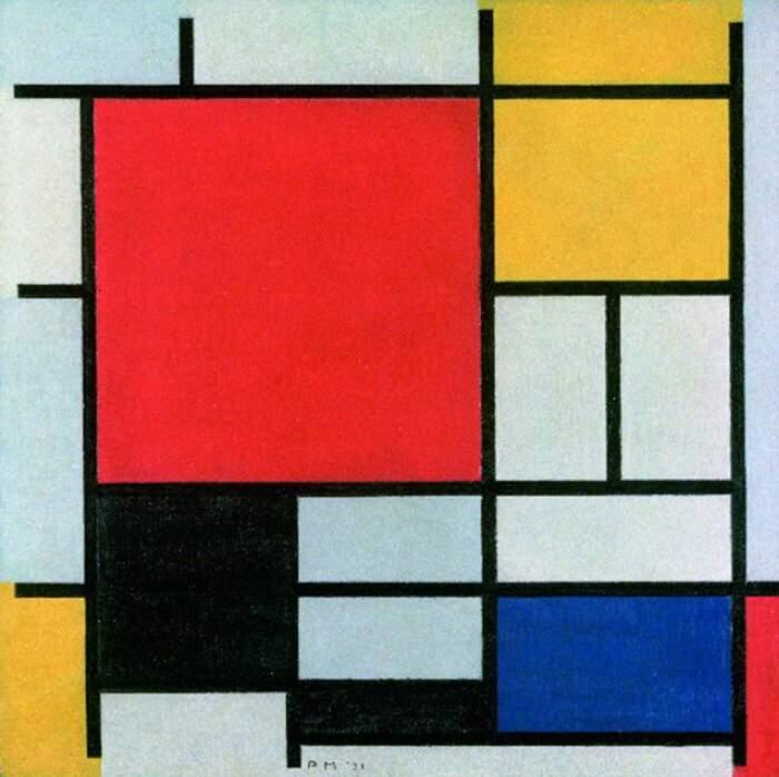 Come riconoscere artisti famosi dai loro quadri, Piet Mondrian