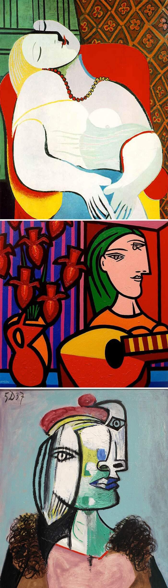Come riconoscere artisti famosi dai loro quadri, Pablo Picasso