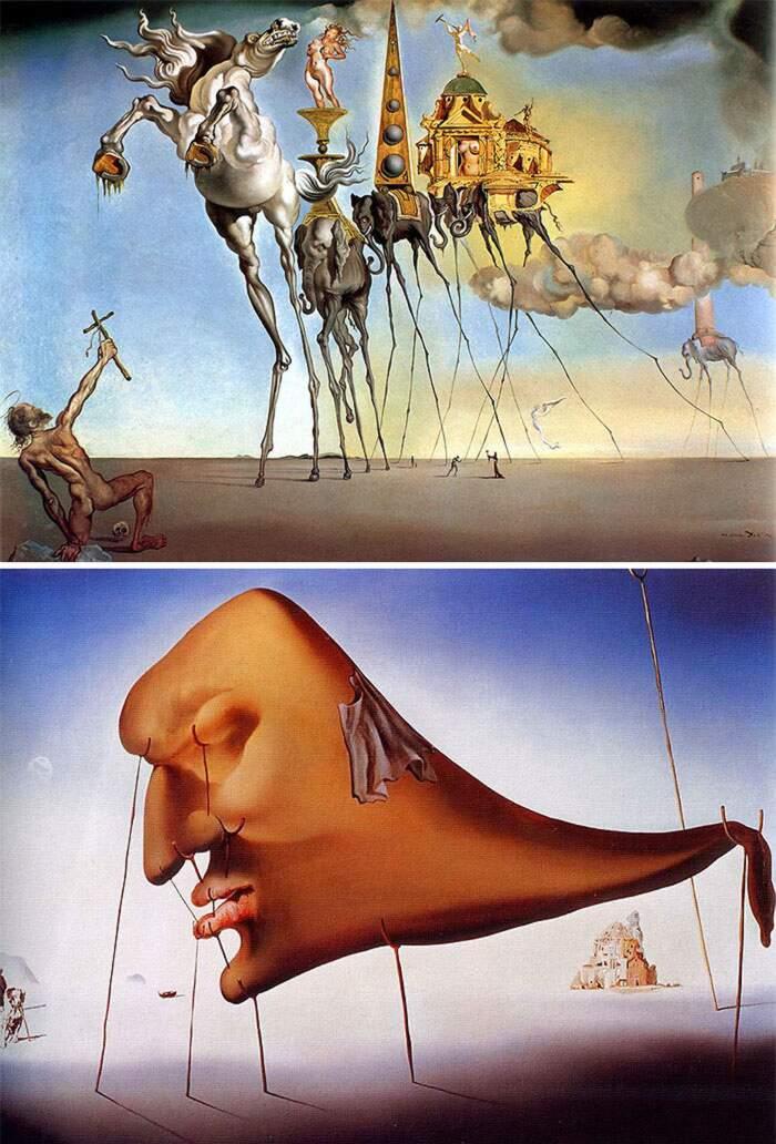 Come riconoscere artisti famosi dai loro quadri, Salvador Dalí