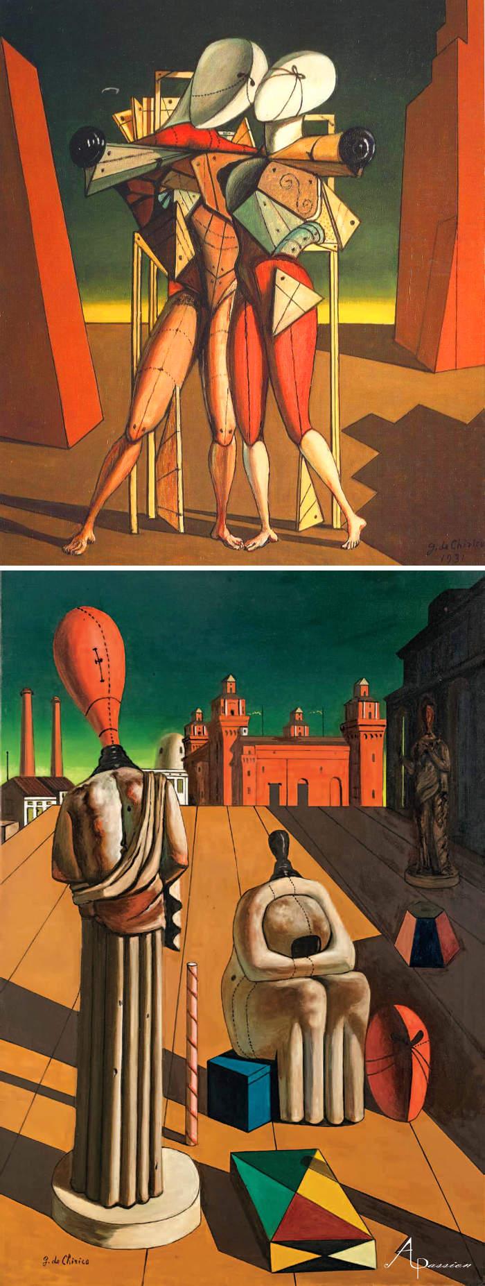 Come riconoscere artisti famosi dai loro quadri, Giorgio de Chirico