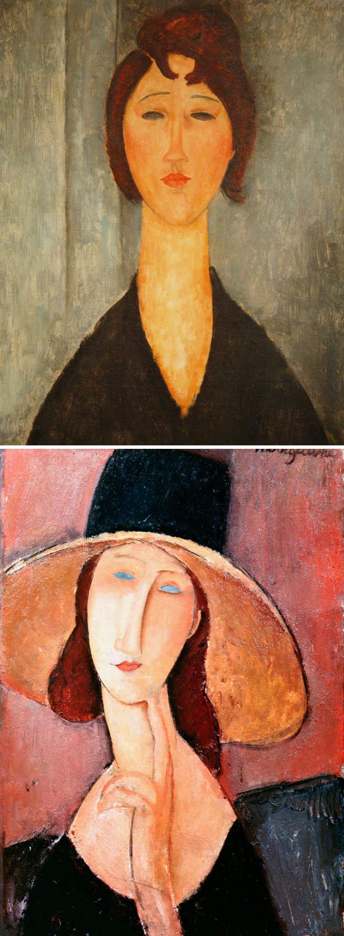 Come riconoscere artisti famosi dai loro quadri, Amedeo Modigliani