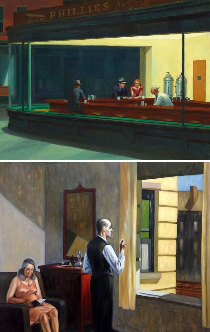 Come riconoscere artisti famosi dai loro quadri, Edward Hopper