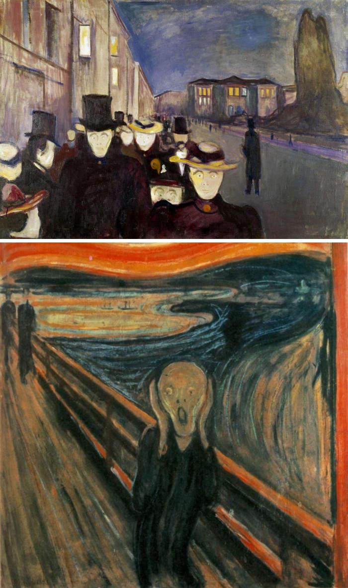 Come riconoscere artisti famosi dai loro quadri, Edvard Munch