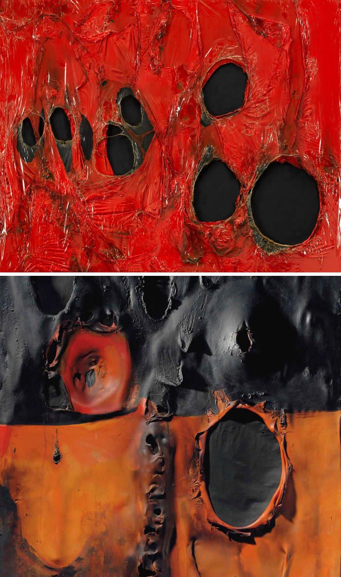 Come riconoscere artisti famosi dai loro quadri, Alberto Burri
