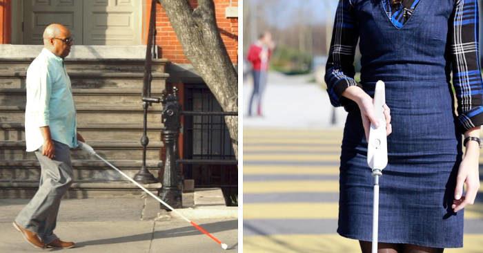 Non vedente inventa bastone smart che si orienta con Google Maps