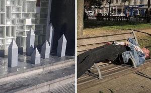 Cercano di impedire ai senzatetto di dormire nei luoghi pubblici: 15 modi disumani adottati in alcune città