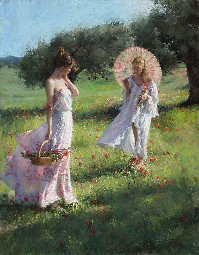 Dipinti figurativi donne sensuali Vicente Romero Redondo