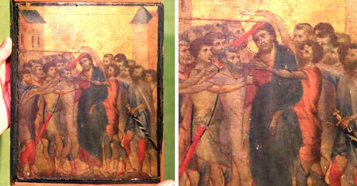 Stava per gettare un dipinto appeso in cucina, ma scopre che è un Cimabue da 6 milioni
