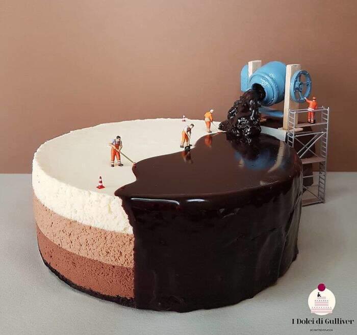 Dolci e dessert diventano fantasiose scene in miniatura grazie alla food art di Matteo Stucchi
