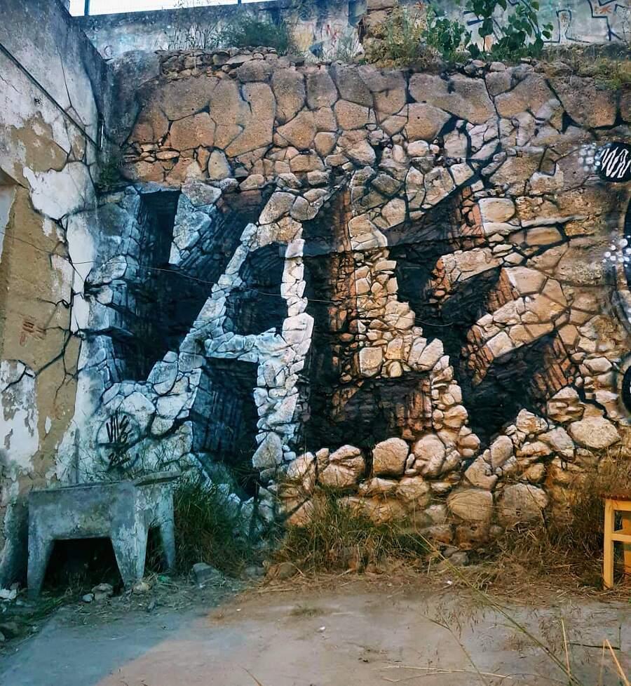 Graffiti e illusioni ottiche nella street art di Vile