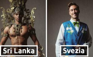 I concorrenti a Mister Global indossano i loro costumi nazionali
