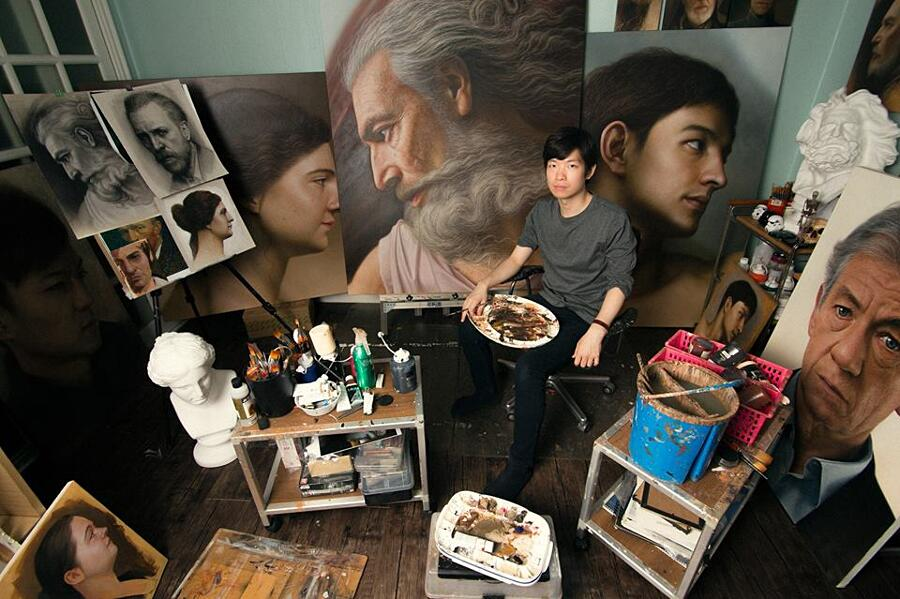 Dipinti iperrealistici Joongwon Jeong