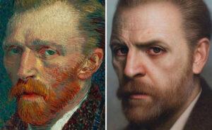 Artista trasforma dipinti antichi, busti e foto in bellissimi ritratti iperrealistici