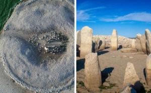 """La siccità fa emergere dalle acque lo """"Stonehenge spagnolo"""" antico 7.000 anni"""
