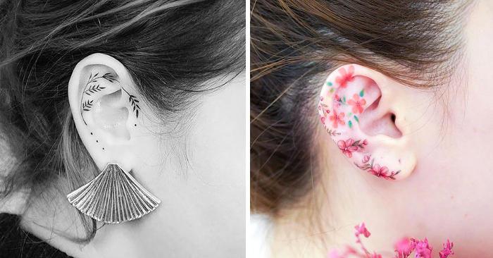 57 esempi di tatuaggi sull'orecchio