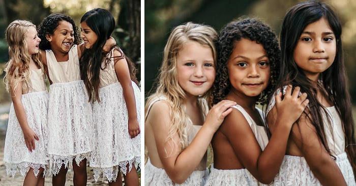 Le foto di tre bambine migliori amiche ci ricordano cos'è l'amore
