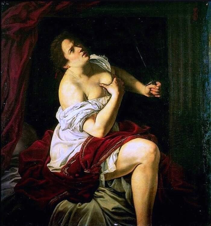 Artemisia Gentileschi - Lucrezia