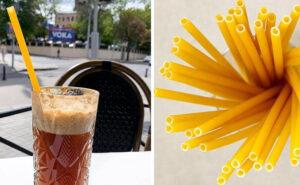 Cannucce fatte di pasta nei bar italiani, contro l'inquinamento ambientale