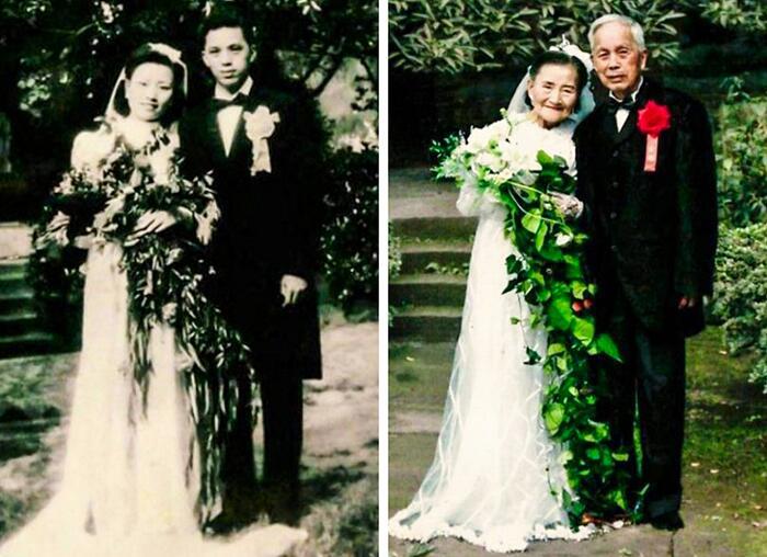 Foto di anziani innamorati