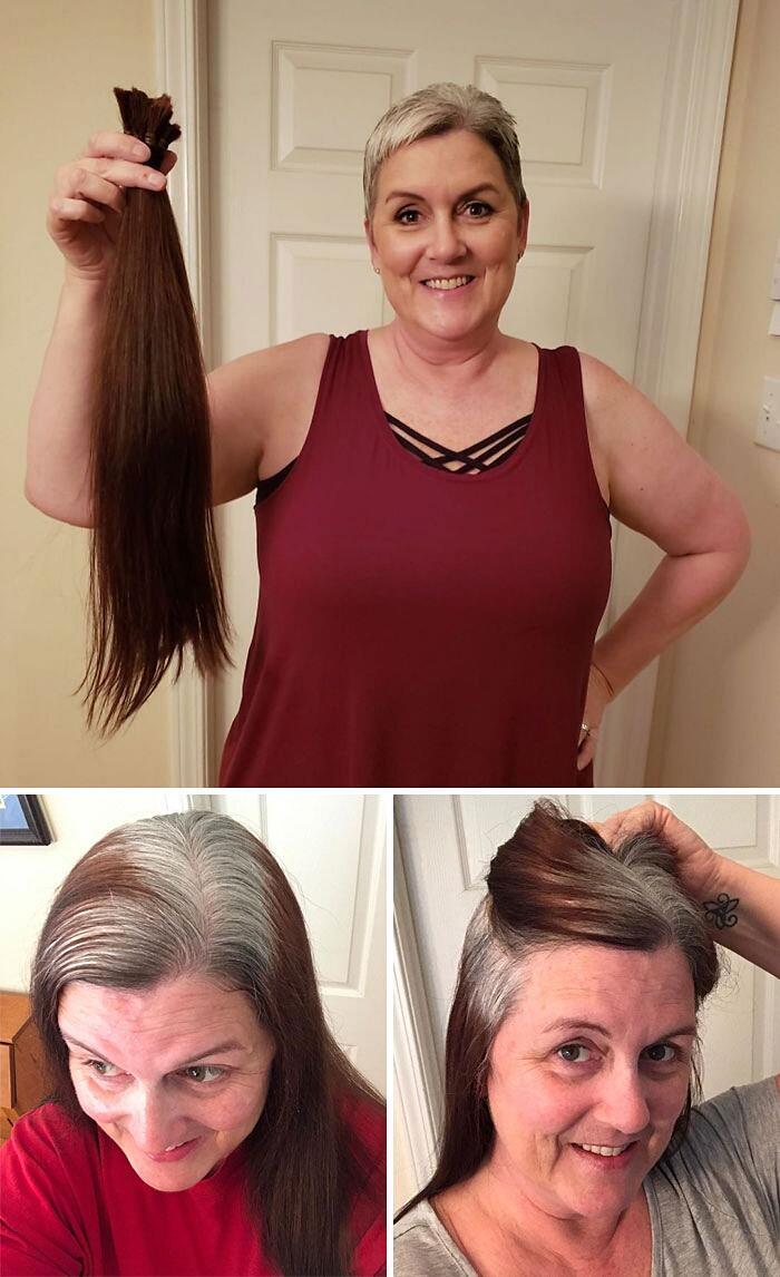 Donne che non tingono più i capelli e sono così belle che ...